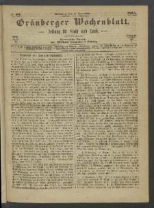 Grünberger Wochenblatt: Zeitung für Stadt und Land, No. 96. (3. December 1865)