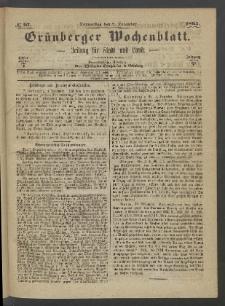 Grünberger Wochenblatt: Zeitung für Stadt und Land, No. 97. (7. December 1865)