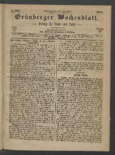 Grünberger Wochenblatt: Zeitung für Stadt und Land, No. 102. (24. December 1865)