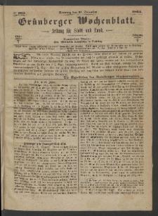 Grünberger Wochenblatt: Zeitung für Stadt und Land, No. 103. (31. December 1865)