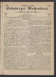 Grünberger Wochenblatt: Zeitung für Stadt und Land, No. 39. (17. Mai 1866)