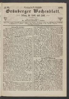 Grünberger Wochenblatt: Zeitung für Stadt und Land, No. 93. (18. November 1866)