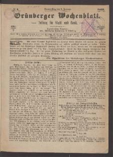 Grünberger Wochenblatt: Zeitung für Stadt und Land, No. 1. (3. Januar 1867)