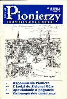 Pionierzy: czasopismo społeczno - historyczne, R. 4, 1999, nr 1 (8)