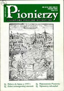 Pionierzy: czasopismo społeczno - historyczne, R. 6, 2001, nr 2 (15)