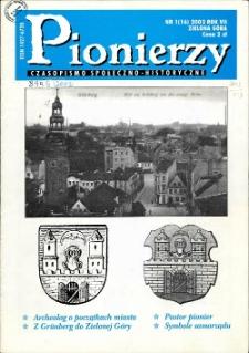 Pionierzy: czasopismo społeczno - historyczne, R. 7, 2002, nr 1 (16)