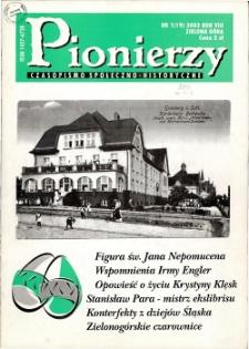 Pionierzy: czasopismo społeczno - historyczne, R. 8, 2003, nr 1 (19)