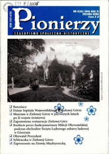 Pionierzy: czasopismo społeczno - historyczne, R. 11, 2006, nr 4 (26)