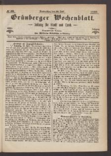 Grünberger Wochenblatt: Zeitung für Stadt und Land, No. 56. (15. Juli 1869)