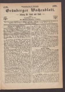 Grünberger Wochenblatt: Zeitung für Stadt und Land, No. 70. (2. September 1869)