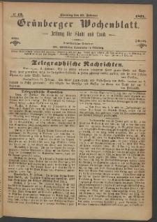 Grünberger Wochenblatt: Zeitung für Stadt und Land, No. 12. (12. Februar 1871)