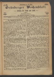 Grünberger Wochenblatt: Zeitung für Stadt und Land, No. 39. (18. Mai 1871)