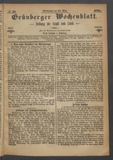 Grünberger Wochenblatt: Zeitung für Stadt und Land, No. 43. (31. Mai 1871)