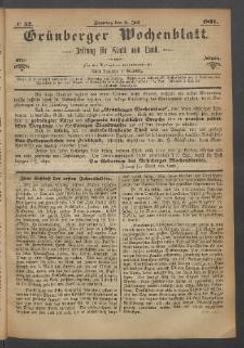 Grünberger Wochenblatt: Zeitung für Stadt und Land, No. 52. (2. Juli 1871)