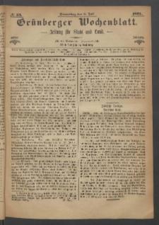 Grünberger Wochenblatt: Zeitung für Stadt und Land, No. 53. (6. Juli 1871)