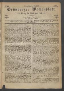 Grünberger Wochenblatt: Zeitung für Stadt und Land, No. 57. (20. Juli 1871)