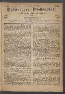 Grünberger Wochenblatt: Zeitung für Stadt und Land, No. 58. (23. Juli 1871)