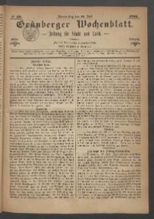 Grünberger Wochenblatt: Zeitung für Stadt und Land, No. 59. (27. Juli 1871)
