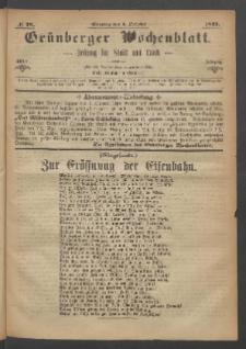 Grünberger Wochenblatt: Zeitung für Stadt und Land, No. 78. (1. October 1871)