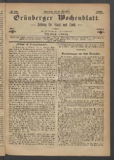 Grünberger Wochenblatt: Zeitung für Stadt und Land, No. 80. (8. October 1871)