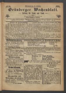 Grünberger Wochenblatt: Zeitung für Stadt und Land, No. 81. (11. October 1871)