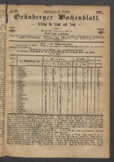 Grünberger Wochenblatt: Zeitung für Stadt und Land, No. 82. (15. October 1871)