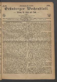 Grünberger Wochenblatt: Zeitung für Stadt und Land, No. 86. (29. October 1871)