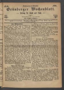 Grünberger Wochenblatt: Zeitung für Stadt und Land, No. 88. (5. November 1871)