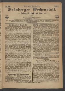 Grünberger Wochenblatt: Zeitung für Stadt und Land, No. 94. (26. November 1871)