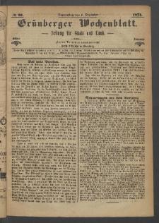 Grünberger Wochenblatt: Zeitung für Stadt und Land, No. 97. (7. Dezember 1871)
