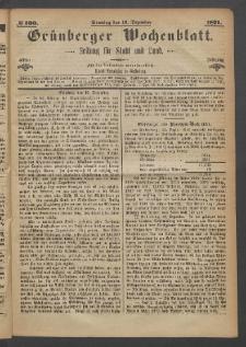 Grünberger Wochenblatt: Zeitung für Stadt und Land, No. 100. (17. Dezember 1871)