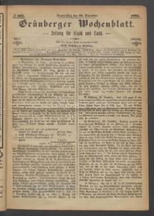 Grünberger Wochenblatt: Zeitung für Stadt und Land, No. 101. (21. Dezember 1871)