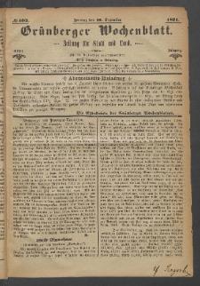 Grünberger Wochenblatt: Zeitung für Stadt und Land, No. 103. (29. Dezember 1871)