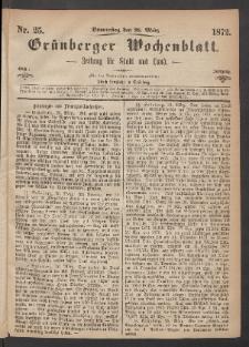 Grünberger Wochenblatt: Zeitung für Stadt und Land, No. 25. (28. März 1872)