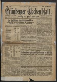 Grünberger Wochenblatt: Zeitung für Stadt und Land, No. 142. (20. Juni 1932)