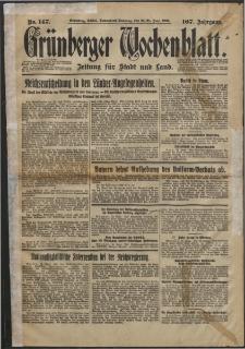 Grünberger Wochenblatt: Zeitung für Stadt und Land, No. 147. (25/26. Juni 1932)