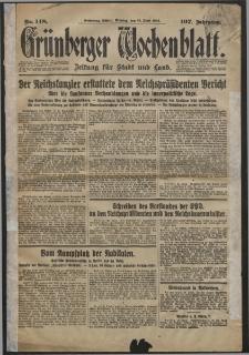 Grünberger Wochenblatt: Zeitung für Stadt und Land, No. 148. (27. Juni 1932)