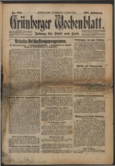 Grünberger Wochenblatt: Zeitung für Stadt und Land, No. 192. (17. August 1932)