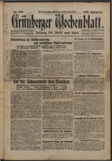 Grünberger Wochenblatt: Zeitung für Stadt und Land, No. 198. (24. August 1932)