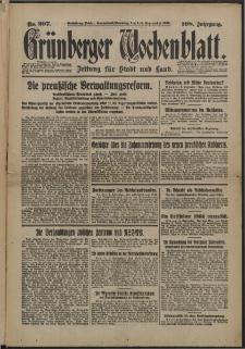 Grünberger Wochenblatt: Zeitung für Stadt und Land, No. 207. (3/4. September 1932)