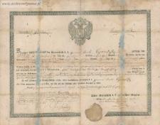 Blasko (Błażej) Czernetzky - dokument zwolnienia ze służby wojskowej