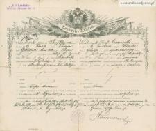 Józef Czerniecki - dokument zwolnienia ze służby wojskowej