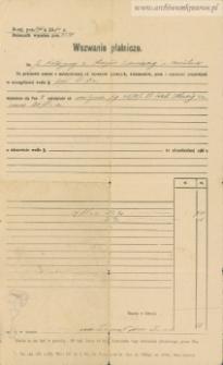 Katarzyna Czerniecka (z d. Hasij) - Wezwanie płatnicze