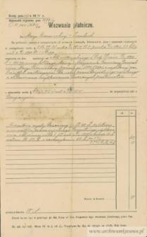 Marya Czerniecka - Wezwanie płatnicze