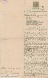 Maciej Czerniecki - sądowy dokument hipoteczny do aktu darowizny z 1894 i aktu kupna sprzedaży z 1895