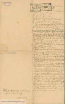Maryanna z Malinowskich Czerniecka - sądowy dokument hipoteczny do aktu darowizny z 1894 i aktu kupna sprzedaży z 1895