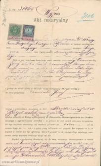 Józef Czerniecki - Akt notaryalny Wypis