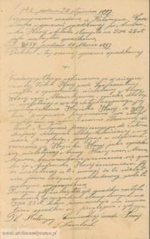 Katarzyna Czerniecka (z d. Hasij) - sprawa spadkowa po zmarłym 3.03.1894 roku w Łuce Andrzeju Hasij