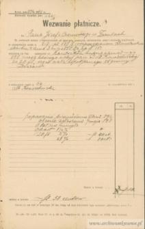 Józef Czerniecki - Wezwanie płatnicze