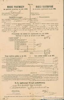 Katarzyna Hasyj - Nakaz płatniczy na podatek gruntowy za rok 1898